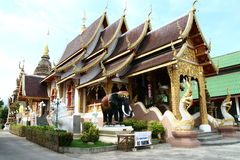 Buddist temple in Chiang Mai. In Thailand Royalty Free Stock Photo