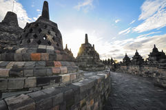 Buddist temple biggest heritage Borobudur complex in Yogjakarta Royalty Free Stock Image