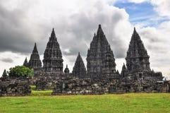Buddist temple Borobudur Prombanan complex in Yogjakarta in Java. Indonesia Royalty Free Stock Images