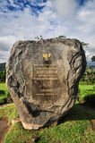 Buddist temple Borobudur Stone sign in Yogjakarta in Java Royalty Free Stock Photography