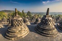Buddist temple Borobudur on sunset background. Yogyakarta. Java, Stock Photography