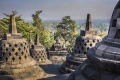 Buddist temple Borobudur on sunset background. Yogyakarta. Java, Stock Photos