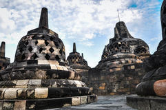 Buddist temple Borobudur UNESCO World Heritage complex in Yogjak Royalty Free Stock Image