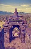 Buddist temple Borobudur. Yogyakarta.  Indonesia Stock Photography