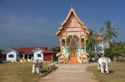 Buddist temple in Champasak Stock Photos