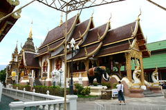 Buddist temple in Chiang Mai Royalty Free Stock Photos
