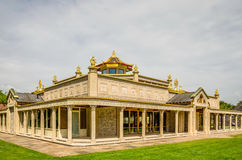 Buddist temple at Conishead Priory, near Ulverston Stock Photos