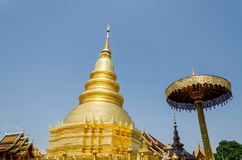 Buddist temple in Lampoon, Thailand Stock Photo