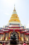 Buddist temple in Lampoon, Thailand Stock Image