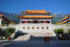 Buddist temple life Royalty Free Stock Images