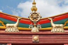 Buddist temple. особенности буддийской религии в республике Бурятия. буддийская атрибутика Stock Photos