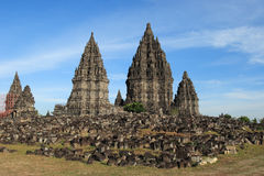 Buddist temple Prambanan. Royalty Free Stock Images