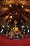Buddist temple in Thailand. Thai temple indoor with Buddha statue Royalty Free Stock Photography