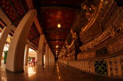 Buddist temple in Thailand. Thai temple outdoor with Buddha statue Royalty Free Stock Images