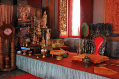 Buddhist temples - interior, Thailand Royalty Free Stock Image
