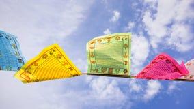 buddisten flags bönen Arkivfoton