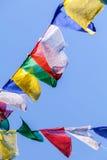 buddisten flags bönen Arkivbild