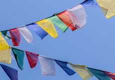 buddisten flags bönen Arkivfoto