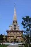 buddistisk chalongtempelthailand wat Royaltyfri Bild