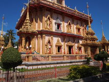 buddistisk chalongtempelthailand wat Royaltyfria Foton