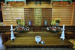 Buddistisk dyrkan Arkivbild