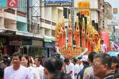 buddistisk festival Arkivbild