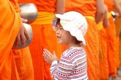 buddistisk flicka Arkivbilder