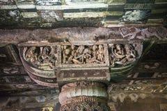 Buddistisk huvudstad, Ajanta tempel, Indien Royaltyfri Foto