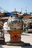 buddistisk kathmandu nepal stupa Arkivfoton