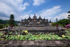 Buddistisk kloster i Bali Arkivbild