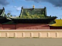 buddistisk klostermongolian arkivbild