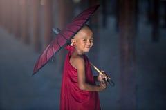buddistisk liten monk Royaltyfri Foto