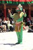 Buddistisk maskering dancer-4 Arkivbild