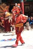 Buddistisk maskering dancer-9 Fotografering för Bildbyråer