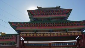 Buddistisk mongolisk Buryat tempel arkivfilmer