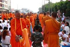 buddistisk monk Arkivbilder