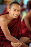 Buddistisk munk Arkivbild