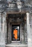 Buddistisk munk i Cambodja Royaltyfri Foto