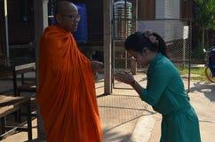 Buddistisk munk och lärare Royaltyfri Bild