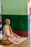 Buddistisk nunna Arkivfoton