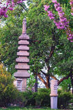 Buddistisk religiös konstruktion i Kyoto parkerar Royaltyfri Bild