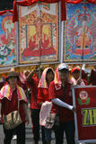 Buddistisk religiös ritual Arkivbild