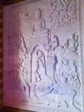 Buddistisk relikskrinhieroglyfer arkivbild