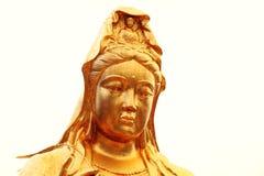 buddistisk staty av den Guanyin bodhisattvaen, Avalokitesvara Bodhisattva, gudinna av förskoning Arkivfoton