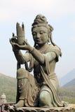 Buddistisk staty i Hong Kong Arkivfoton