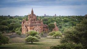 Buddistisk tempel av Bagan, Myanmar, Burma Arkivfoton