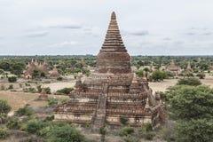 Buddistisk tempel av Bagan, Myanmar, Burma Arkivbilder