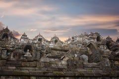 Buddistisk tempel av Borobudur Indonesien Royaltyfri Bild