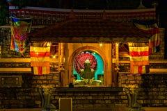 Buddistisk tempel av tanden kandy Sri Lanka askfat royaltyfri bild
