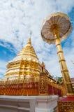 Buddistisk tempel av Wat Phrathat Doi Suthep Public Arkivfoto